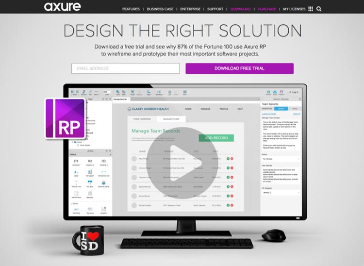 Website UI design tools: Axure