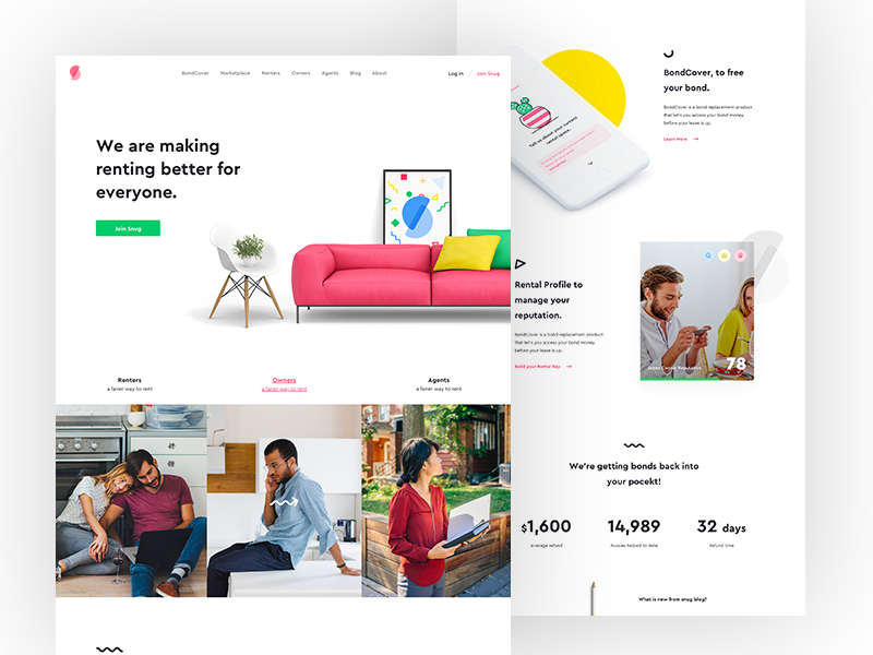 Visual elements are a key-driver to surefire success of any business landing page. Here is where your designers can show their skills and flair at the fullest.
