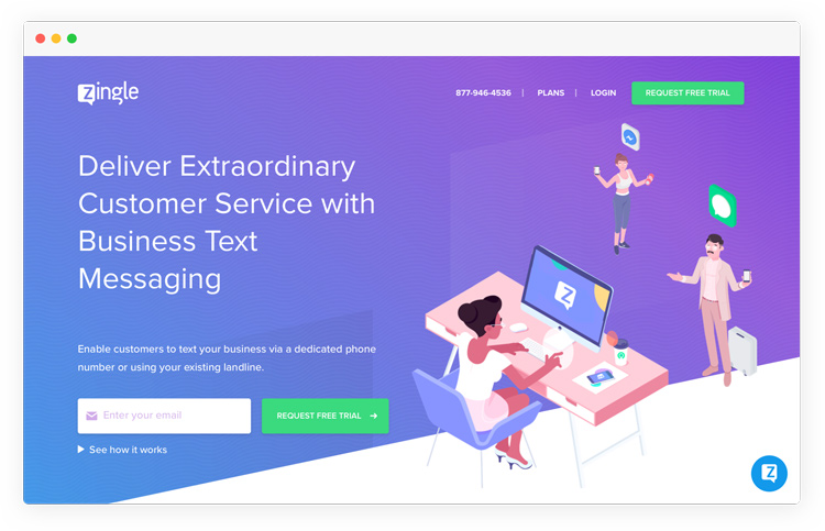 Zingle - bright and modern saas design